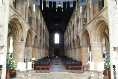 Clergy view down the nave
